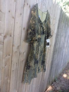 Short Sleeve Dress, Rabbit Design Camo print lined dress, SIZE 10 P #RabbitDesign