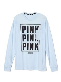 Pink shirt Rip in the side PINK Victoria's Secret Tops Tees - Long Sleeve Oversized Long Sleeve Shirt, Blue Long Sleeve Shirt, Long Sleeve Tops, Oversized Tee, Victoria Secret Outfits, Victoria Secret Pink, Victoria Secrets, Blue Tops, Pink Tops