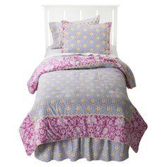 Camden Market Ashbury Comforter Set - PinkBlue