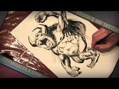 Brush & Ink Sketch Demo - Illustrator Jeff Miracola