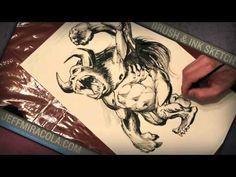 Brush & Ink Sketch Demo - Illustrator Jeff Miracola
