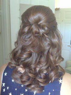 loose curls half up-half down WEDDING HAIR!! LOVE THIS!