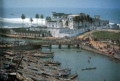 "June 1st + 2nd - Elmina Castle, Ghana * Visitors to Elmina Castle, a former slave trading post, are powerfully moved by its ""Door of No Return"", through which captured Africans were herded out of the fort and onto slave ships."