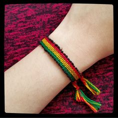 """2 for $7 ⇨ Rasta """"Bob Marley"""" Style Bracelet ❌PLEASE DON'T BUY THIS LISTING❌ I will create a new listing with this same bracelet/bundle.❣Match the 2 for $7 to save even more/pick any bracelet of your choice & I will give you a discount on bundle anyway❣Price is firm otherwise bundled.  Plain and simple but cool rasta / Bob Marley style macrame bracelet. ⓢⓘⓩⓔ: Bracelet's 9 1/2 inches long (size may vary) Jewelry Bracelets"""