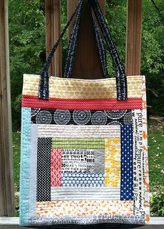 I highly recommend this bag pattern.  It's very easy, even for beginners and the bag comes together very quickly.  And you never can have too many bags!
