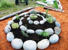 4 Spiral Raised Garden Bed Ideas... would like to do this in my yard.
