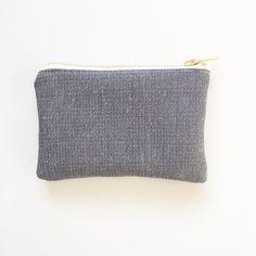 Ecofriendly coin purse Navy Organic Hemp and purse by ElizaElizaUK