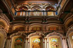 Palace Umer Hayat as seen from below. Omar Hayat Mahal (Urdu: عمر حیات محل) is a 19th century wooden architectural wonder of Chiniot, a tehsil of Jhang District in Pakistan. It is also known as Gulzar Manzil. Omar Hayat Palace is a five story building which stands in the heart of the city. Two upper stories were removed in 1993 due to heavy rainfall which may have affected the adjoining buildings. The palace's building is the last of Mughal's architectural style, or of a Mughal Revival…