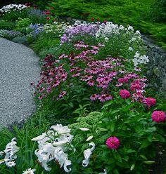 Veronica's garden in New Hampshire-click for more photos of this garden