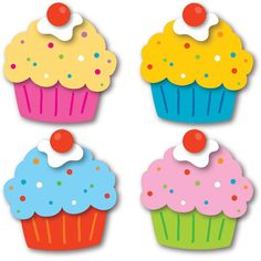 Celebrate birthdays and special days with the Cupcakes assorted mini Colorful Cut-Outs(R). Transform your classroom into the perfect place to party with this sweet multipurpose set that features 36 cu Classroom Clipart, Classroom Labels, Preschool Classroom, Classroom Themes, Preschool Crafts, Crafts For Kids, Preschool Winter, Classroom Birthday Displays, Birthday Chart Classroom