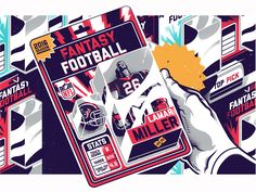 A couple illustrations for ESPN Fantasy Football Guide 2016.