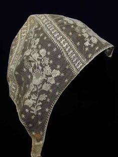 Antique lace bonnet.