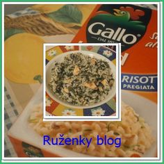 Rizoto se špenátem a lososem (Risotto con salmone e spinaci) Risotto, Oatmeal, Breakfast, Blog, The Oatmeal, Morning Coffee, Rolled Oats, Morning Breakfast, Overnight Oatmeal