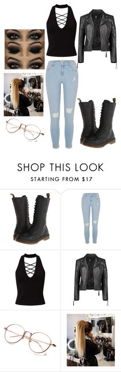 """""""Laura's Outfit"""" by queenprincessliarra ❤ liked on Polyvore featuring Dr. Martens, River Island, Miss Selfridge and Boohoo"""