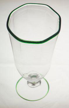 Clear Octogonal Goblet ~ Handblown Glass