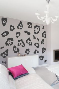 Cheetah Spots, Animal Print Decals, Jaguar Pattern Wall Decor, Spotted Cat Print, Snow Leopard, WALLTAT.com Art Without Boundaries