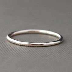 Plain Silver Ring  Plain Silver Band by CatherineMarissa on Etsy, $8.00