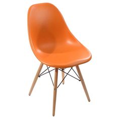 Plastic Wooden Chair with Wooden Feet