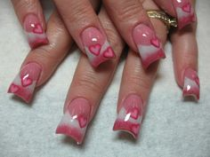 Make heart shape for valentine nail art: Best Valentines Day Nails ~ fixstik.com Nail Designs Inspiration