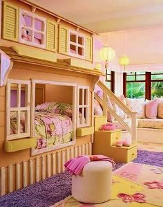 Built in Bunk Beds | Built in playhouse loft/bed | Kids