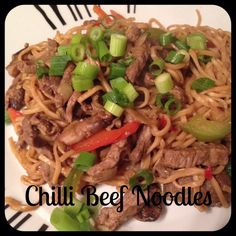 Chilli Beef Noodles - Slimming World, Slimming World Recipes Slimming World Chilli, Slimming World Dinners, Slimming World Diet, Slimming Recipes, Beef Recipes, Cooking Recipes, Healthy Recipes, Slimmers World Recipes, Syn Free Food