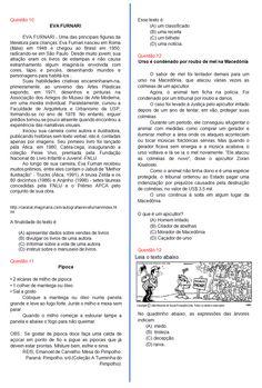 Avaliação de Português 4ºano | Sala de Aula – Profª Rérida