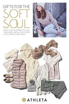 Here at Athleta, we've got gifts for every woman on your list. If cozy is her cup of tea and lounging is what she loves, our soft knit tops andbottoms make for the perfect gifts.