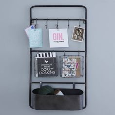 Are you interested in our industrial metal storage unit? With our hanging storage rack you need look no further. Industrial Metal Shelving, Industrial Interior Design, Metal Shelves, Industrial Style, Hanging Storage, Wall Storage, Storage Rack, Kitchen Storage Units, Home Accessories