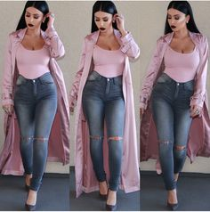 Women looks beautiful and sexy in Jeans. Jeans have come a long way from the utilitarian based clothing for western men when they dealt wit. Classy Outfits, Sexy Outfits, Chic Outfits, Spring Outfits, Fashion Outfits, Womens Fashion, Pastel Outfit, Looks Chic, Mode Inspiration