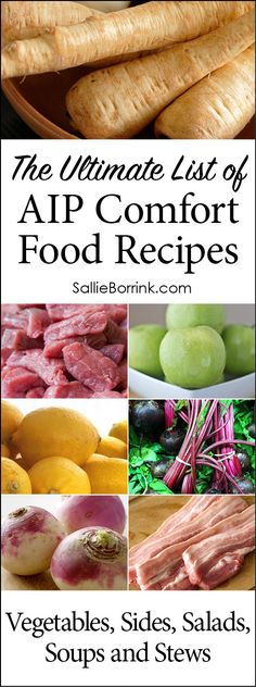 AIP vegetables, AIP sides, AIP salads, SIP soups, and AIP stews. Find great AIP recipes here including AIP comfort food that will help you eat to heal your body and also enjoy great flavors!