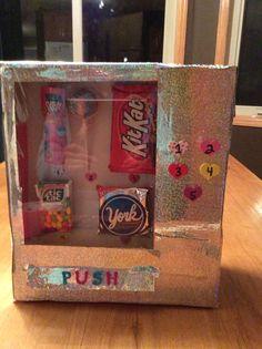 Vending machine valentine box