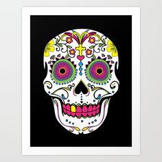 Sugar Skull Art Print by Chase - $18.72