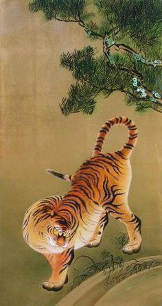 Tiger | Tattoo Ideas & Inspiration - Japanese Art | MARUYAMA Oukyo (1733~1795) | #Japanese #Art