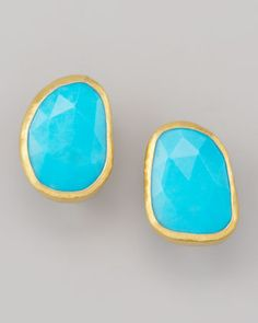 Turquoise Stud Earrings. I'm so into turguoise these days!