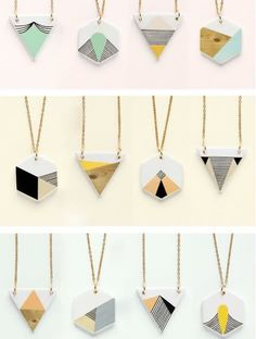 cute animal geometric jewellery