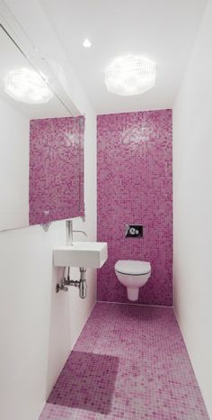Pink Bathroom.