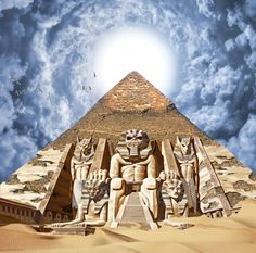 the pyramid before Eddie woke up after being asleep for thousands of years. his alarm failed to go off.