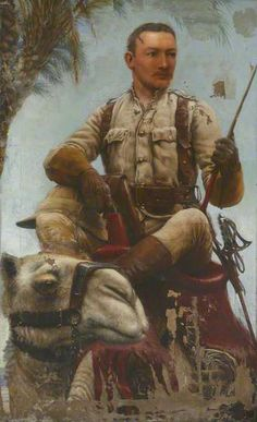 Lieutenant (later Major) Baden Fletcher Smyth Baden-Powell (1860–1937), Scots Guards, Nile Expedition, 1885 ~ by Frank Smyth Baden-Powell, 1885 (National Army Museum)