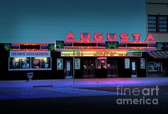 Facade of the Augusta, KS Historic Theatre (photo by Fred Lassmann)