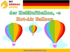 Means of Transport: Das Verkehrsmittel | Learn German Online #mygermannotes #Verkehrsmittel #Transport #Einsatzfahrzeuge #Luftfahrzeuge #Baumaschinen #Individueller #Verkehr ‪#öffentlicher #hot #air #balloon #Heissluftballon