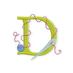 Vandaag is het tijd voor de letter D!  En hier is het bewijs ook weer eens, dat de draad nooit te lang mag zijn, de draad heeft zich weerbarstig rondom de D geslingerd!  Hier kunnen jullie de D downloaden:  Naai-ABC-D  Volgende week woensdag dan weer de volgende letter.  Veel plezier!