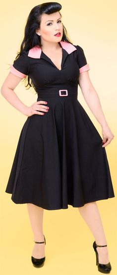 Love the 40s - 60s style of clothing!  And pink and black? LUV!  Feel free to buy it for me if you get the urge!