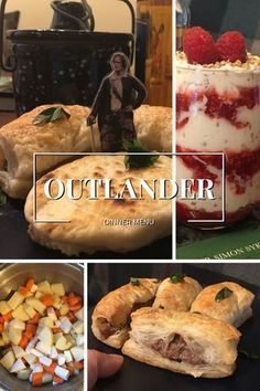 For your next viewing party, get our Outlander dinner menu and recipes that come straight from Scotland. Ach, their bonny wee treats! Outlander Dinner Menu and Recipes - Outlander Dinner Menu and Recipes Scottish Dishes, Scottish Recipes, Irish Recipes, Outlander Wedding, Dinner Party Menu, Dinner Themes, Outlander Recipes, Outlander Gifts, Outlander Book