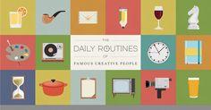 como os criativos dividiam seu tempo