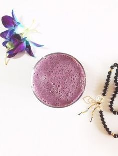 Blueberry ginger digestive aid smoothie.