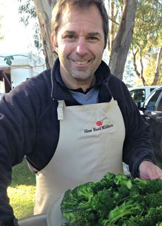 Brad Fyfe Leader of Slow Food Mildura- Slow Food Mildura is made up of volunteers. All our time is donated to educating the community about the Slow Food philosophy. Our Leader; Brad Fyfe, has been so generous with his time carrying out cooking demonstrations at the Farmer's Market, which has now become an integral part of the market. It's a way of showcasing how easy it is to use produce being sold at the stalls there, and how fantastic it tastes!