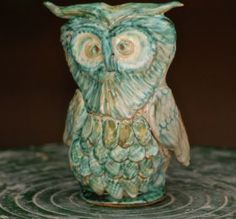 Green Owl - Apulian Whistle Whistle representing an owl. Made entirely with clay sculpted, molded and painted by hand, cooking in the oven at more than 1,000 degrees. #madeinitaly #artigianato