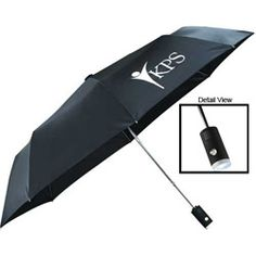 """42"""" Auto Open/Close Flashlight Umbrella. #business #promotionalgifts Filling Station, Branded Gifts, Factories, Corporate Gifts, Umbrellas, Flashlight, Promotion, Alcohol, Branding"""