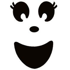 Ghost face template - girls tutu ghost costume