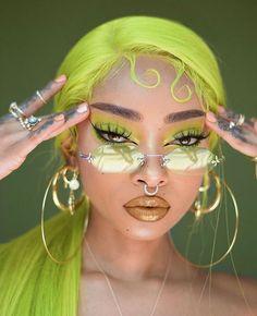Lip base/ balm: coco loco lipppie balm Eyeshadow primer: anti fatigue under eye primer 👓: Rings: Cute Makeup, Pretty Makeup, Makeup Art, Hair Makeup, Makeup Ideas, Sfx Makeup, Makeup Tricks, Black Girl Aesthetic, Aesthetic Hair